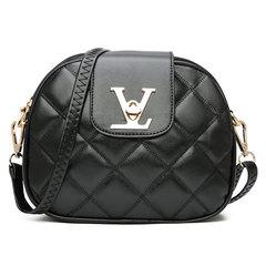 New Female Bag Messenger Bag Luxury PU Brand Designer Ladies Handbag Black Shoulder Bag Women Bags Black Normal