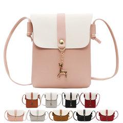 Cute Deer Design Fashion Small Shoulder Bag for Girls Women Casual Messenger Bag Ladies Phone Bags Pink Horizontal