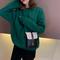 Cute Deer Design Fashion Small Shoulder Bag for Girls Women Casual Messenger Bag Ladies Phone Bags Black Vertical