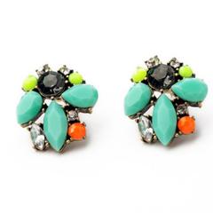 Pair of Cute Rhinestone Colored Earrings