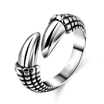 Stylish Stainless Steel Punk Ring Bridal Sets Silver 10