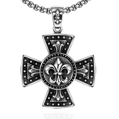 Cross Pattern Fashion Chain Vintage Pendant Necklace
