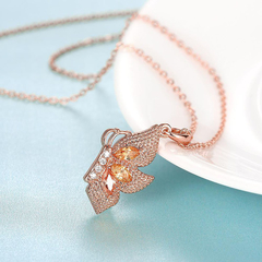 Zircon Necklace Fashion Jewelry Necklace Rose Gold One size