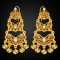 Heart 18k Gold Plated Simulated Diamond Drop Earrings Golden One size