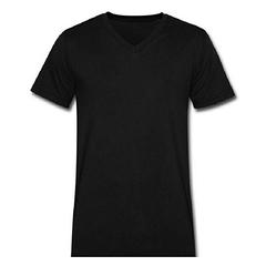Plain Black R-Neck T-Shirt black m cotton