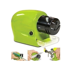 Electric Knife Sharpener Kitchen Knives Scissors Motorized Blades Screw Drivers Green