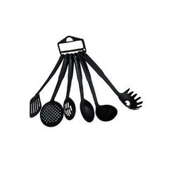 non stick cooking and serving spoons Black small
