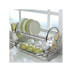 ELEGANT STRONG UTENSILS DRYING AND STORAGE RACK. silver medium