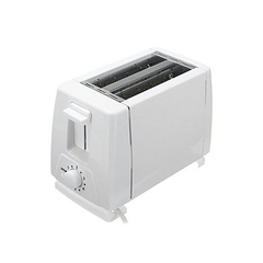 2 slice bread toaster white