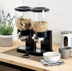 Double Cereal Dispenser white big