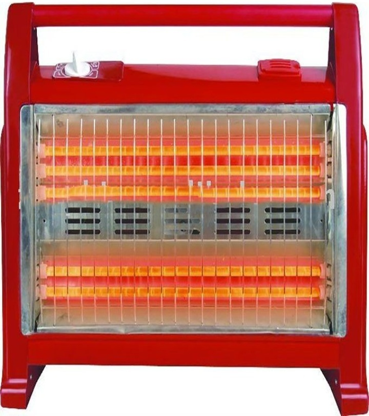 Premier Halogen room heater with two heat settings 800w/1600watts -Red Red