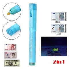 Fake Money detector-2in 1 Blue
