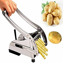 Metallic Fries/Chips Cutter- Stainless Steel Potato Chopper silver one size