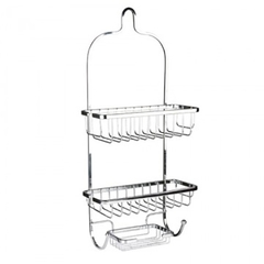 Bathroom Organisers Vertical Fit Shower Caddy GREY medium