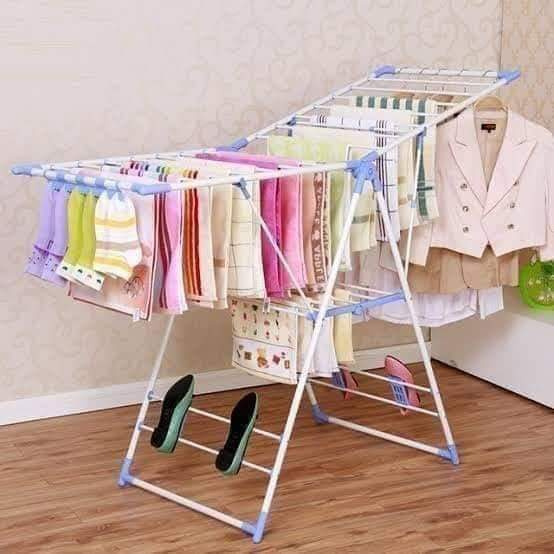 Outdoor Foldable clothes drying rack Blue
