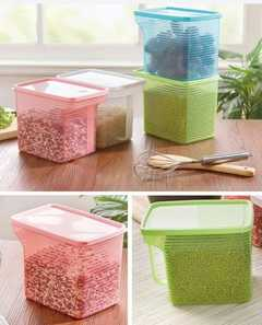2l cereal containers green