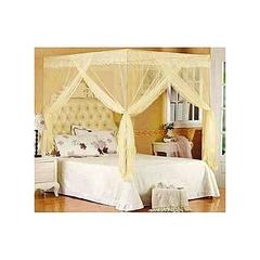 4-Stand Straight Mosquito Net Cream 4x6