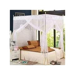 4 Stands Straight Mosquito Net White 4x6