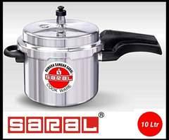 Saral Aluminium Pressure cooker silver one size