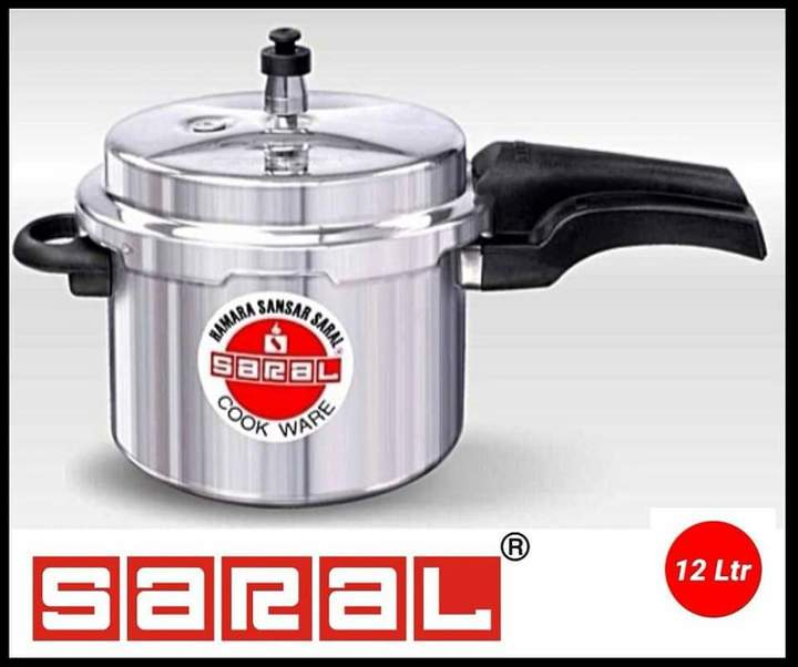 Saral Aluminium Pressure cooker silver one size
