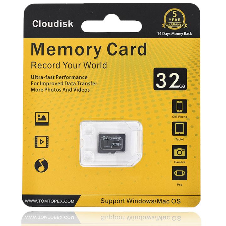 Cloudisk Memory Card 32GB U1 Class 10 Micro SD Card SDXC SDHC Flash TF Card  5 Years Warranty as shown micro sd 32gb memory card