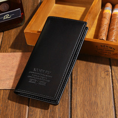 Men's Wallets  Purses Male Slim Long Wallets  New  Business  Card Holder Carteira Masculina black one size