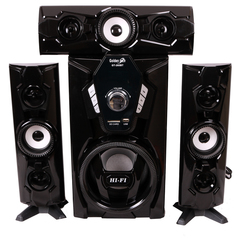 GoldenTech GT-265BT Multimedia Speaker System 3.1 USB SD Card Bluetooth and FM Radio AC/DC Woofer black 15000w GT-265BT