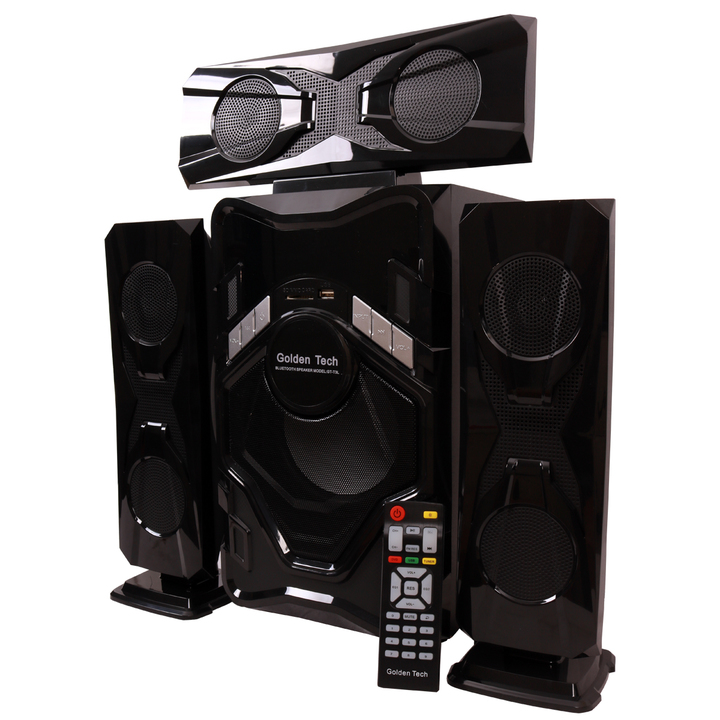 GoldenTech GT-T3L Multimedia Speaker System 3.1 USB SD Card Reader Bluetooth and FM Radio Woofer black 10000W GT-T3L