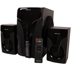 Goldentech AL-111 Multimedia Speaker System 2.1 USB SD Card Reader Bluetooth and FM Radio Woofer black 10000w AL-111