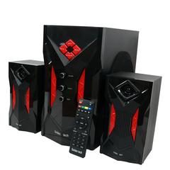 GoldenTech GT-260 Multimedia Speaker System 2.1 USB SD Card Reader Bluetooth and FM Radio Woofer black 10000w GT-260