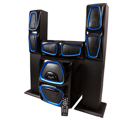 GoldenTech A-999T Multimedia Speaker System 3.1 USB FM Radio Bluetooth and SD Card Woofer black 50000W A-999T