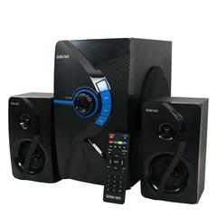 GoldenTech GT-111BT Multimedia Speaker System 2.1 USB SD Card Reader Bluetooth and FM Radio  Woofer black 10000w GT-111BT
