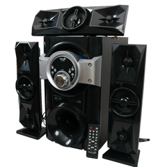 GoldenTech GT-111BT Multimedia Speaker System 3.1 USB SD Card Reader Bluetooth and FM Radio Woofer black 15000w gt-111bt