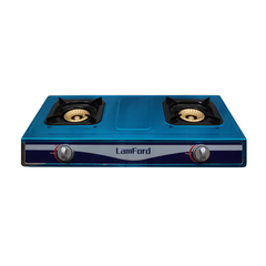 2 Burner LamFord House Hold Gas Stove GD-057 Stainless Steel Gas Cooker