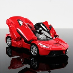 1:32 LaFerrari Supercar Alloy Diecast Car Model Pull Back Toy Electronic Car Classical Kids Toys Red one size