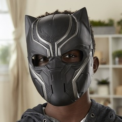 Black Panther Black Panther Basic Mask for kids Black one size