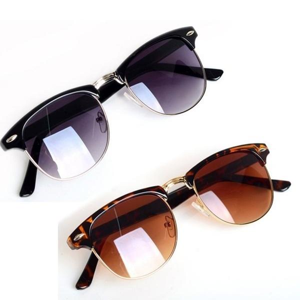 Hot Fashion Eyewear Vintage Retro Unisex Sunglasses Women Brand Designer Men Sun Glasses Black one size
