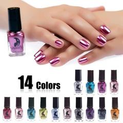 14 Color Women Fashion Sexy New Metallics Nail Polish Mirror Nail Polish Beauty Makeup Accessories 14v colors
