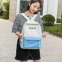 fresh canvas schoolbag female backpack bump color girl backpacks white one size