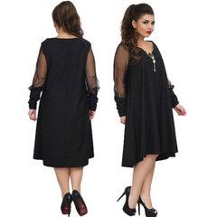 Vintage plus-size sexy dresses women long dress big size 6xl xxxxxxxl black