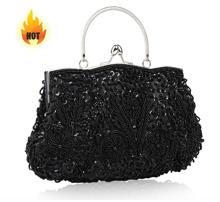 d7fd79246e1d 2019 latest style scarce women s handbags handmade beaded luxury fashion  style black small
