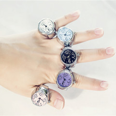 New watch price real shooting ring table pink diamond disc fashion ring hot trend birthday gift Color mixing one size