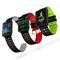 BANGWEI Sport Watch  IP68 Waterproof Smart Watch Blood Pressure Heart Rate Monitor Calorie Pedometer black red standard