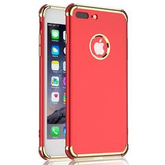 Iphonex.7.6.8 mobile phone shell Apple mobile phone sets new luxury plating four corners anti-drop red iphonex
