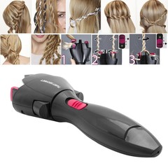 Electric Automatic Smart Quick Braid Hair Braider Hairstyle Tool Hair Braided Tight Curls Artifact black standard