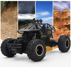 1:16 Super Horsepower Four-wheel Drive Off-Road Toy Car Mountain Vehicle Remote Control Car Hot Kids black 1:16