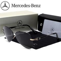 Mercedes-Benz logo polarized sunglasses men's frameless frog mirror car 4S shop gift driving glasses gray standard