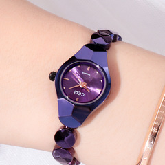 The latest models of tungsten steel bracelets women's watches women's watches hot watches purple one size