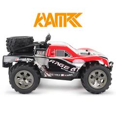 KYAMRC new high-speed big-foot off-road vehicle 2.4G short-skin truck climbing remote control car red Medium size