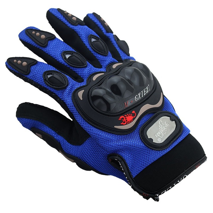 Motorcycle racing gloves all refer to summer riding motorcycle rider gloves tricolor selection 2pcs red l